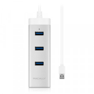 Macally U3HUBGBA Hub 3 ports USB 3.0 + 1 port Ethernet Gigabit HUBMAY0004-20