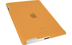 Novodio Smart BackCover Frost Orange Coque pour iPad 2 compatible Smart Cover IPDNVO0018-20