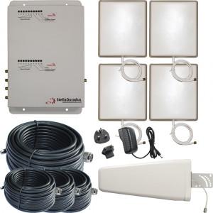 Stella Doradus Booster / répéteur / amplificateur Dual-Band GSM + 3G 900 / 2100 Mhz 4 antennes internes 4000m ² BRDB9003G01-20