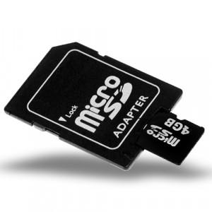 Carte mémoire 4GB MicroSD / TF Carte avec adaptateur de Slot SD 4GBMSDTFCASSD01-20