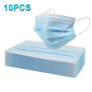 10 PCS Masque Jetable 3 couches Protection Respirant Antiviral Médecin Infirmière Masque Visage Médical SH47201283-20