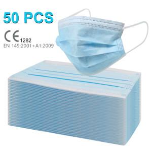50 pcs Masque chirurgical 3 couches Protection Respirant Antiviral Docteur Infirmière Masque Médical SHU472658-20