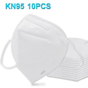 10 PCS CE KN95 n95 Masque Respirateur Protection Antipoussière Antiviral Anti-buée Médecin Infirmière Masque Facial (Blanc) SHU4731888-20