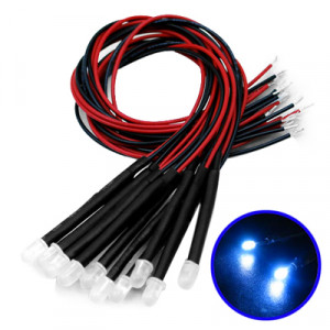 10 Câble LED Bleu décorative 10CLBD02-20