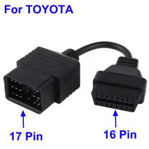 Câble diagnostic 17 Pin vers 16 Pin OBD 2 / OBD pour TOYOTA CD17P01-20