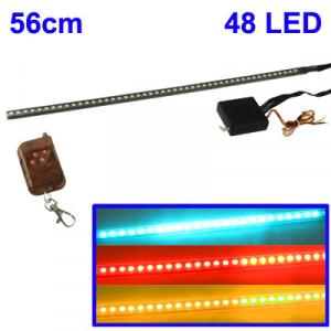 Barre à 48 LEDs Multicouleurs (56cm) avec télécommande infrarouge, 30 pattern BLMATI02-20
