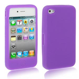 Etui en silicone pour iPhone 4 / 4S (Pourpre) ESIP4P01-20