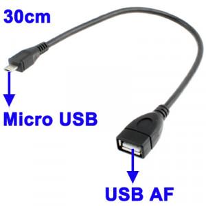 Câble Micro USB 5 Pin Male vers USB 2.0 AF 30cm CMUSBM02-20