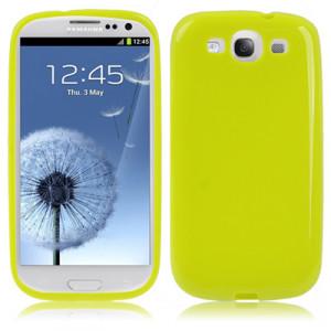Coque en plastique flexible pour Samsung Galaxy SIII Vert Fluorescent CPFSGS3VF01-20