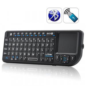 Mini Clavier QWERTY Bluetooth avec Touchpad et pointeur laser MCQBTTPL01-20