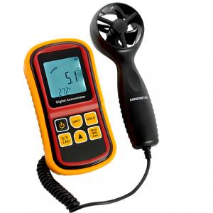 Anémomètre à main numérique mesurant la vitesse du vent, l'échelle de beaufort, la température AMNMVV01-20