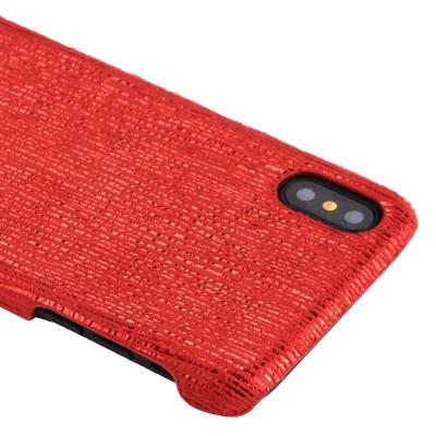 Pour iPhone X / XS PC Twinkle Stripes Motif Coque Arrière Couverture (Rouge) SH465R1984-20