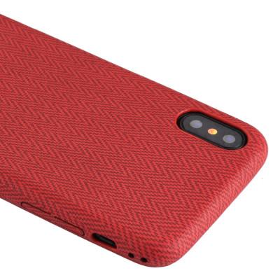 Pour iPhone X / XS TPU Housse de protection arrière (rouge) SH466R1351-20