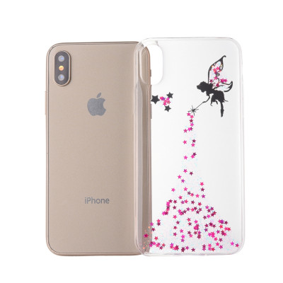 Etui Epoxy Angel Pattern Pour iPhone XR 6.1 pouces (rose) SH060F995-20