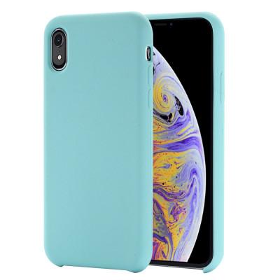 Étui de protection en silicone liquide à couverture intégrale à quatre coins pour iPhone XR 6,1 pouces (vert) SH098G167-20