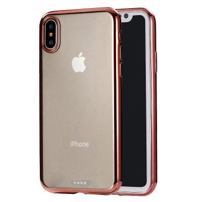 Coque arrière ultra-mince en TPU pour iPhone XR (Rose Gold) SH32RG417-20