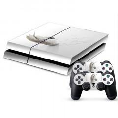 Autocollant en peau de peau en peau de protection en peau de peau en peau de protection 3D pour console de jeux PS4