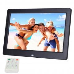 Cadre photo numérique grand écran 10,1 pouces HD avec support et télécommande, Allwinner E200, Réveil / Lecteur MP3 / MP4 / Film (Noir)