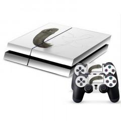 Autocollant de peau de couverture autocollant en peau de protection en forme de dinosaure en 3D pour console de jeux PS4