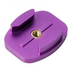 Adaptateur TMC en aluminium de montage en surface à surface plane pour GoPro Hero 4 / 3+ / 3/2/1 (Violet)
