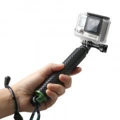 Monopied à poteau extensible à main avec vis pour GoPro HERO4 / 3 + / 3/2, Longueur max.: 49cm (Vert)