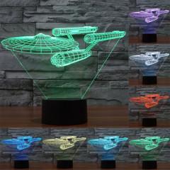 Star Trek Battleship Style 7 Couleur Décoloration Creative Visual Stéréo Lampe 3D Tactile Commutateur LED Lumière Bureau Lampe Nuit Lumière