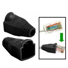 100 pcs câble réseau couvre-bouchon pour RJ45, noir