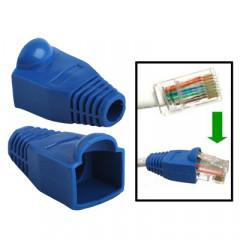 100 pcs câble réseau couvre-bouchon pour RJ45, bleu