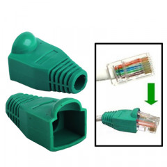 100 pcs câble réseau couvre-bouchon pour RJ45, vert