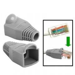 100 pcs câble réseau couvre-bouchon pour RJ45, gris