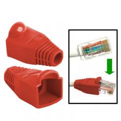 100 pcs câble réseau couvre-bouchon pour RJ45, rouge