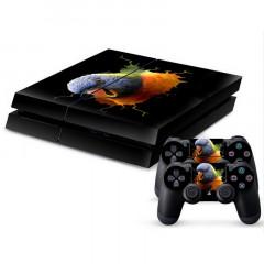 Autocollant de peau de protection pour autocollant en peau de protection 3D pour oiseaux pour console de jeux PS4