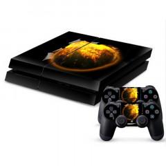 Autocollant de peau de protection en peau de protection en peau de protection 3D pour console de jeu PS4