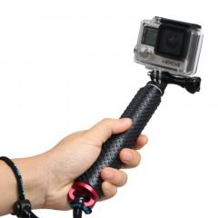 Monopied à poteau extensible à main avec vis pour GoPro HERO4 / 3 + / 3/2, Longueur max.: 49cm (Rouge)