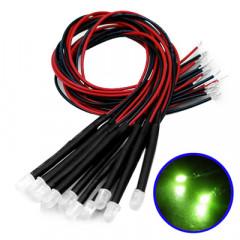 10 Câble LED Vertes décorative
