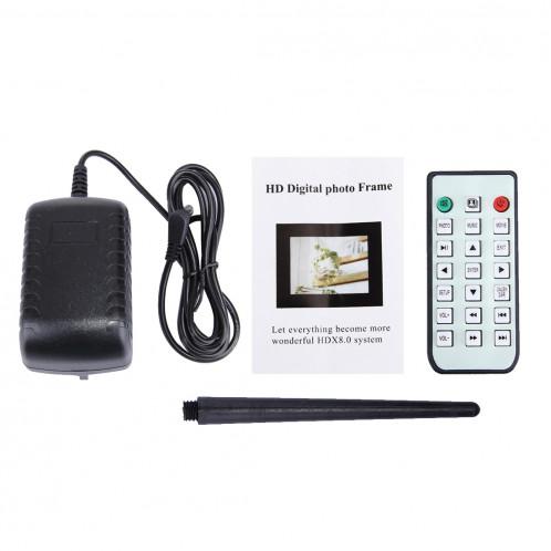 Cadre photo numérique de 15,0 pouces avec support de télécommande Carte SD / MMC / MS et USB, noir (1500) (noir) SC01290-07