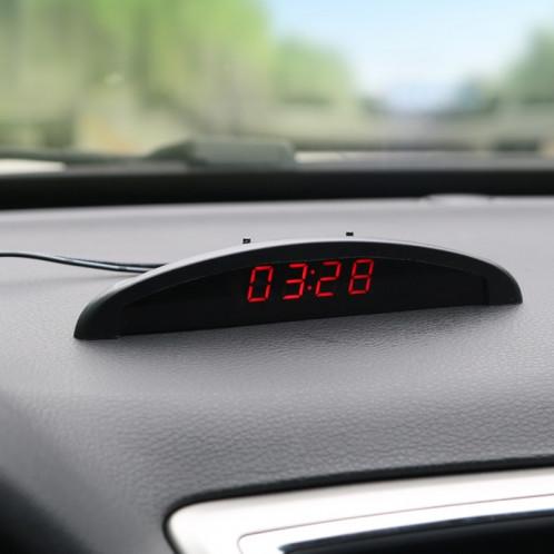 Horloge Thermomètre à affichage numérique LED 2 en 1 SH8640-08