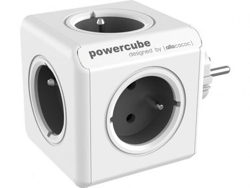 allocacoc PowerCube Original gris Bloc Multiprise Compact (5 Prises) ALIACC0017-03