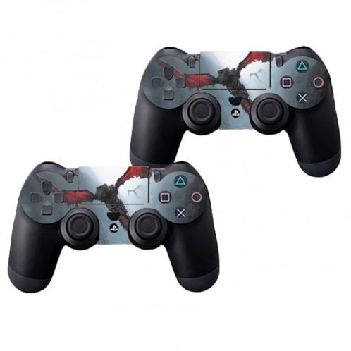 Peau de protection en peau de protection de patte de tatouage autocollant pour console de jeux PS4 SP785D-04