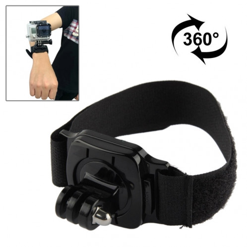 Support à courroie pour caméra à rotation à 360 degrés pour GoPro Hero 4 / 3+ / 3/2/1, longueur de sangle: 36cm (noir) SS06080-04