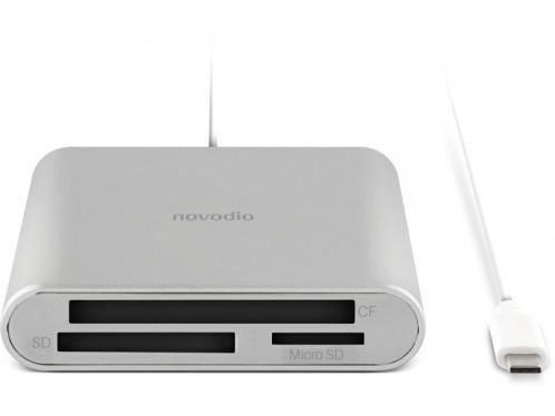 Novodio USB-C Card Reader Lecteur de cartes USB-C (SD, micro-SD, CF) LECNVO0001-04