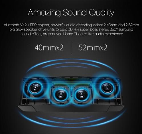 ZEALOT S12 Portable Sound Box Enceinte puissante sans fil avec subwoofer puissant avec microphone Blanc C59631568-017