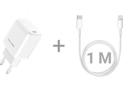 Pack Novodio C-Charge 20 + Câble Lightning vers USB-C AMPNVO0371D-03