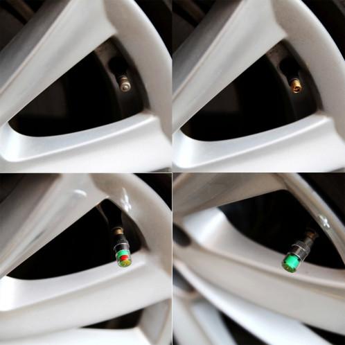 4 PCS 2.4 Bar Tuyau de détection de pression de pneu Cap S40270-07
