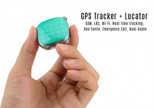 GPS Tracker + Locator GSM, Wi-Fi, LBS, Geo Fence, Appel d'urgence, suivi en temps réel, Dual Audio (Vert) CG0013-011