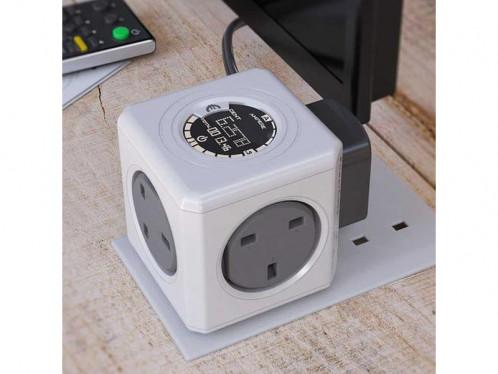 allocacoc PowerCube Monitor Original Multiprise avec indicateur consommation ALIACC0015-03