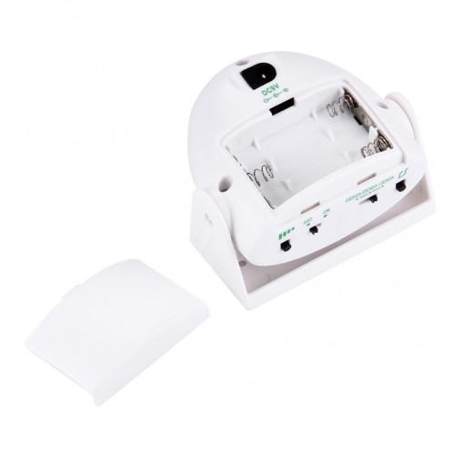 5301 Capteur de mouvement infrarouge sans fil Alarme de bienvenue Sonnerie vocale intelligente, IR Distance: 10m (Blanc) S5001W-07