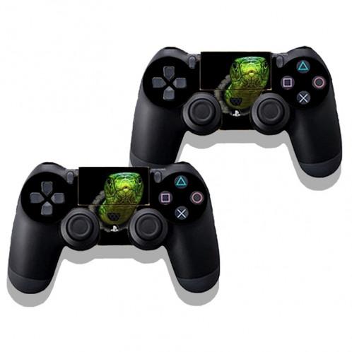 Autocollant en peau de peau en peau de protection en peau de protection en peau de peau verte 3D pour console de jeu PS4 SA340G-03