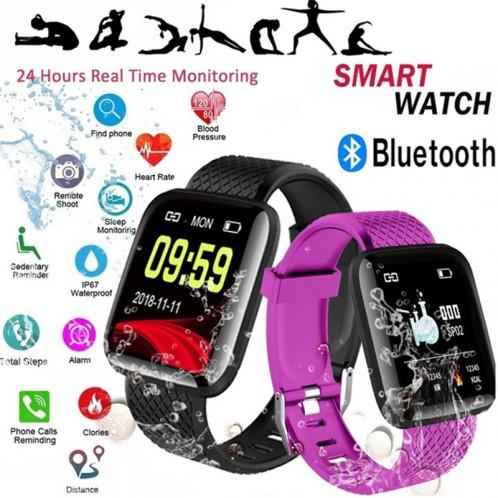 SmartWatch étanche Surveillance de la pression artérielle de la fréquence cardiaque Smart Band FitnessTracker IP67 Noir C44891514-07