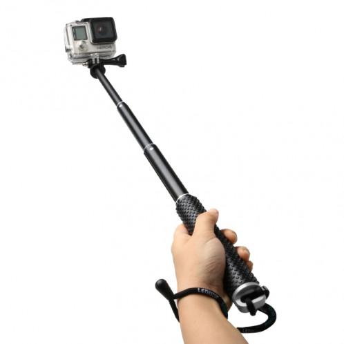 Monopied à poteau extensible à main avec vis pour GoPro HERO4 / 3 + / 3/2, Longueur max.: 49cm (Argent) SM268S0-08